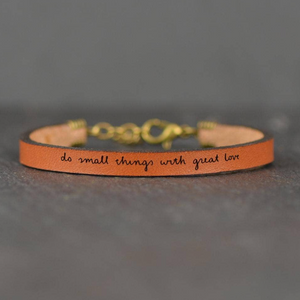 Do Small Things With Great Love | Leather Bracelet