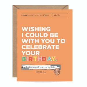 Missing Your Birthday Scratch Off Card | Inklings