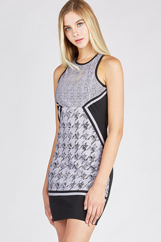 Houndstooth Stretch Dress