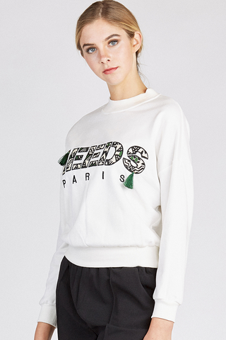 Embroidered Round Neck Sweatshirt