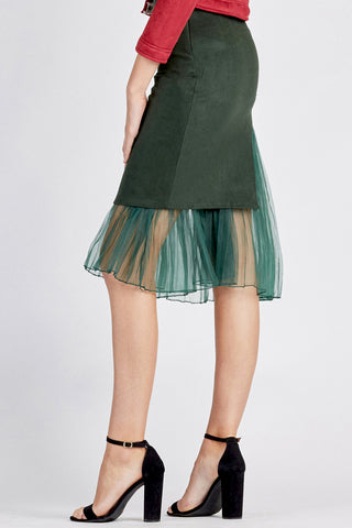 Skirt with Sheer Slip