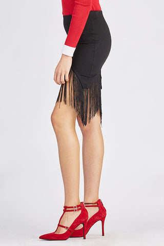 Sexy Skirt with Fringe