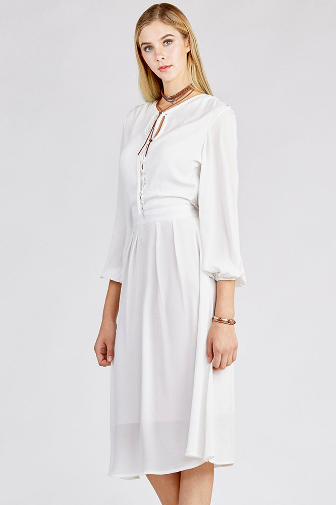 Long Beach Maxi Dress with Long Sleeves