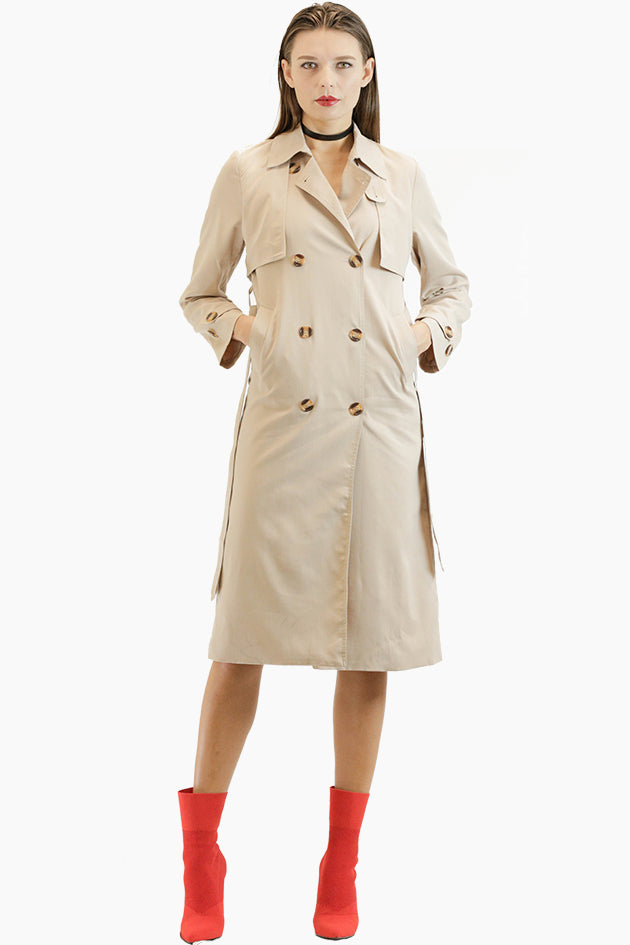 Classic French Trench Coat