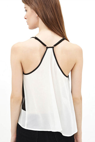 Black and White Geometric Top