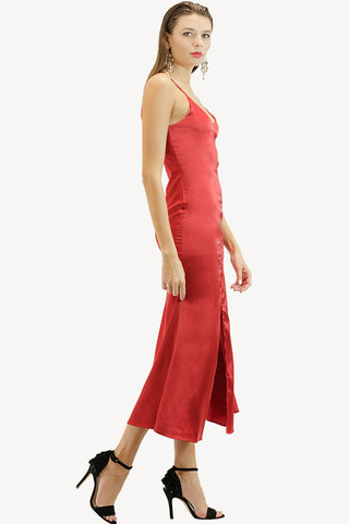 Red Formal Slip Dress