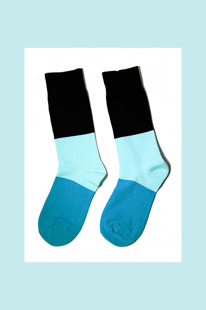 Solid Color Socks|Mint Blue