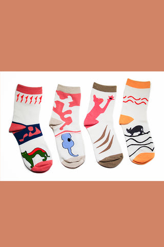 4-Pack Socks|Cat's Dream