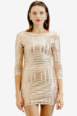 Geometric Glitter Bodycon Dress