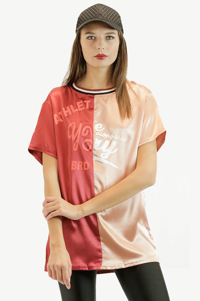 Two-Tone Sporty T-Shirt