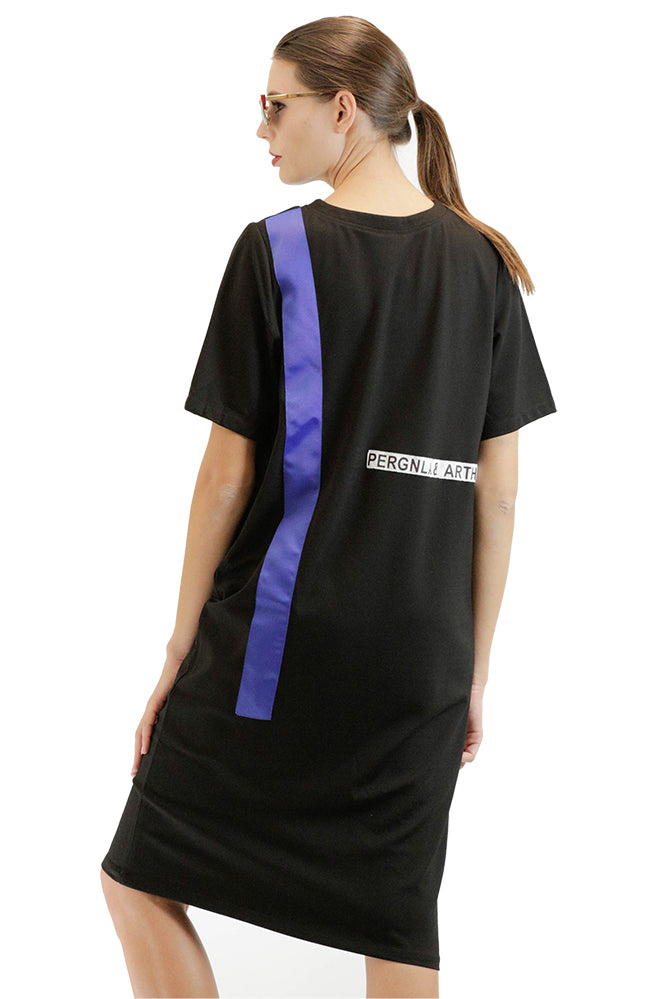 Casual T-shirt Dress with LIFE Graphic
