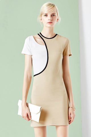Asymmetrical Short Sleeve Dress