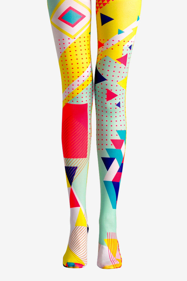 Viken Plan Geometric patterns Pantyhose