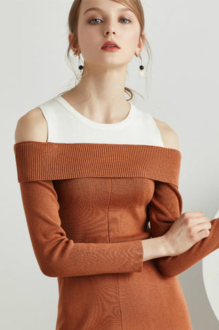 Cold Shoulder Sweater with Long Sleeves
