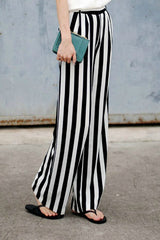 Engineered Stripe Loose Fit Pants