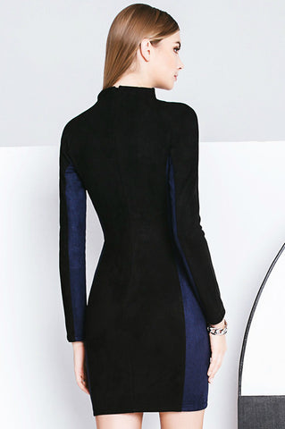 Modern Pencil Dress with Zipper Detail