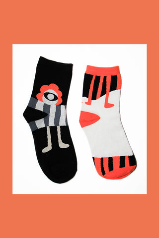 Black and Orange Socks
