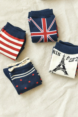 4-Pack Flag Socks