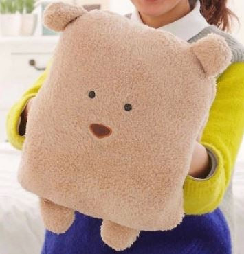 Brown Bear Pillow Blanket