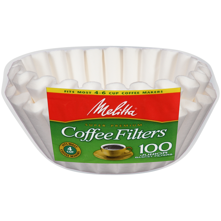 Melitta 4-6 Cup Jr Basket Coffee Filters - 200 Count - Encore Coffee Company