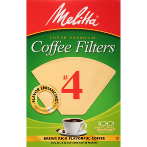 Melitta #4 Cone Filter Paper Natural Brown - 100 Count - Encore Coffee Company
