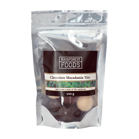 Chocolate Macadamia Nut Trio 100g