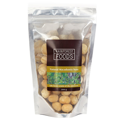 Natural Macadamia Nuts 200g