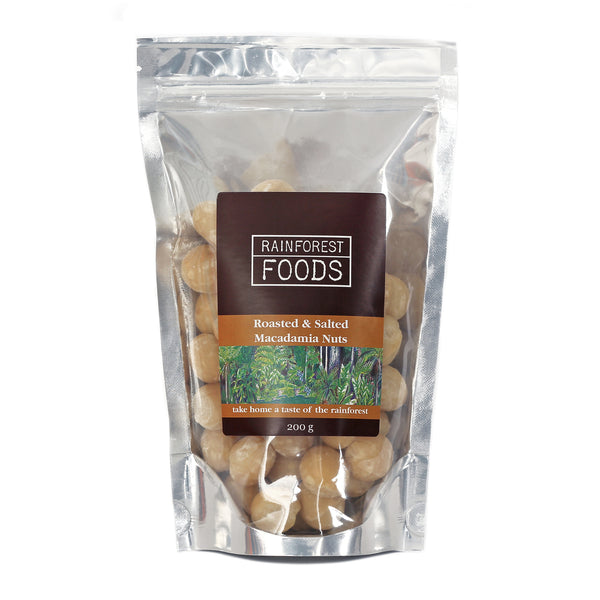 Dry Roasted and Salted Macadamia Nuts 200g
