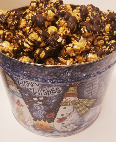 Dark Chocolate Sea Salt Caramel Corn Tin