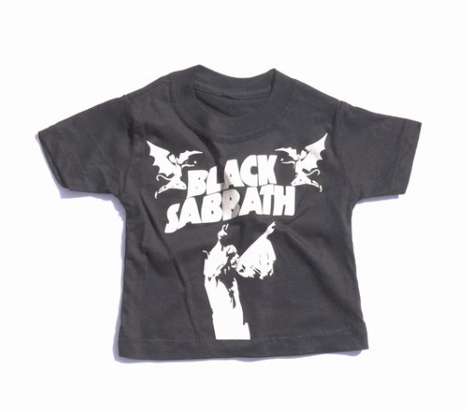 Black Sabbath Tee for Children Kids Baby Infant Toddler Clothes