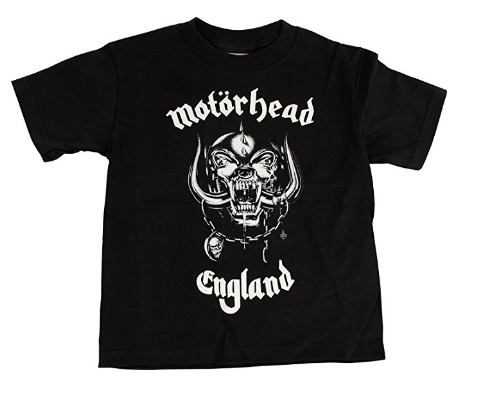 Motorhead Black White Unisex Boys Girls Kids Children Toddler Baby Infant Tee Clothes