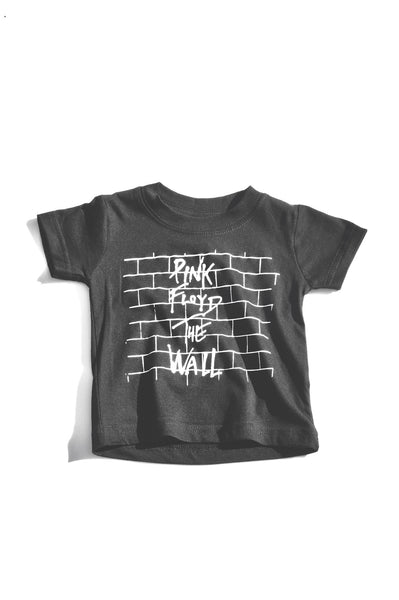 Pink Floyd Black White Unisex Boys Girls Kids Children Toddler Baby Infant Tee Clothes