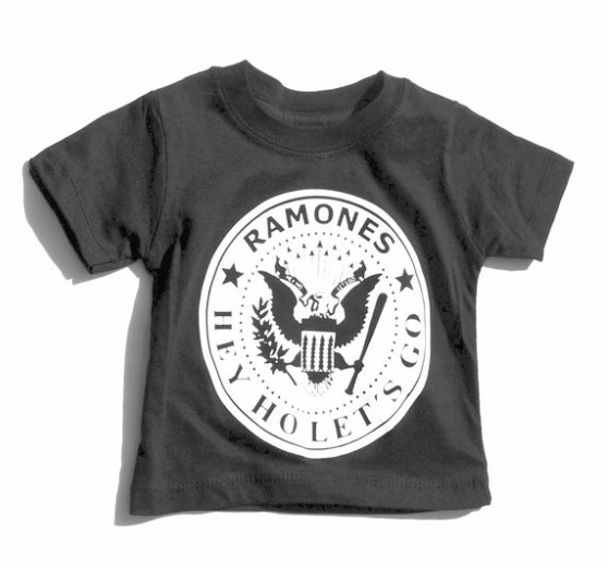 Ramones Black White Unisex Boys Girls Kids Children Toddler Baby Infant Tee Clothes