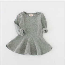 Autumn Light Grey Long Sleeve Dress
