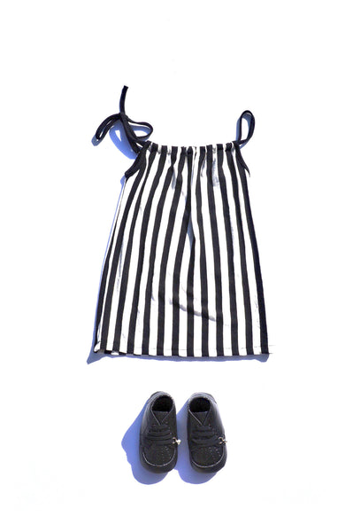 Stripe Tank Dresses in Black White for  Kids Toddler Children Infant Baby Clothes
