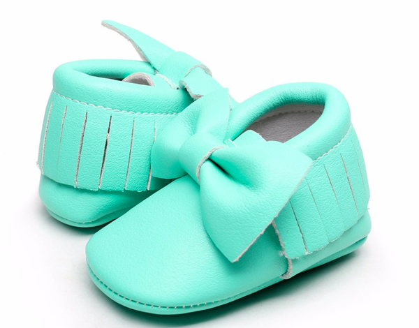 Minty Bow Moccasin