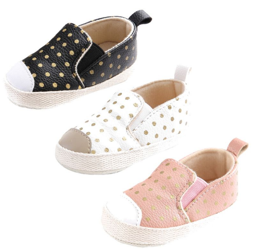 Polka Dot Slide On Moccasin  Unisex Boys Girls Kids Toddler Children Infant Baby Clothes Footwear