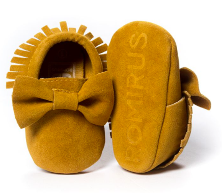 Laurent Suede Bow Moccasin