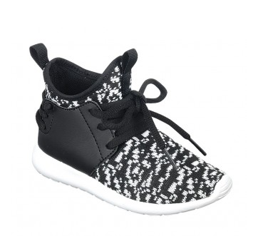 Black and white athletic sneaker footwear Girls Kids Toddler Children Infant Baby Clothes