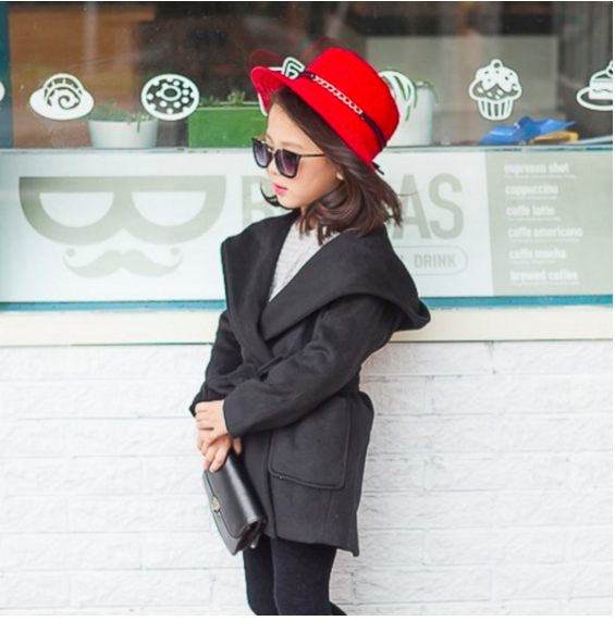Black Trench Coat for Kids Toddler Baby Children Infant Clothes