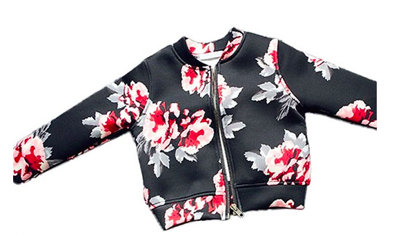 Floral Bomber Scuba Jacket for Boys Girls Kids Children Toddler Baby Infant Clothing