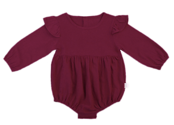 Anj Burgundy Long Sleeve Leotard