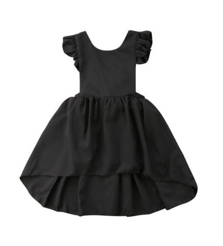 Devon Black Tie Dress