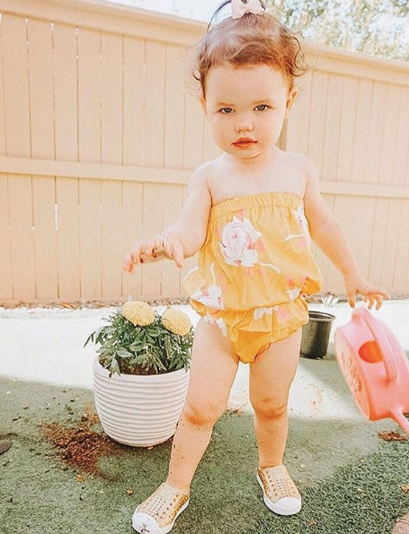 Neve Yellow & Pink Tube Romper