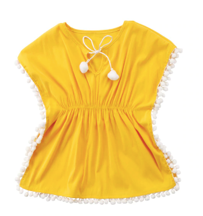 Kapali Swim Cover Up Yellow Dress