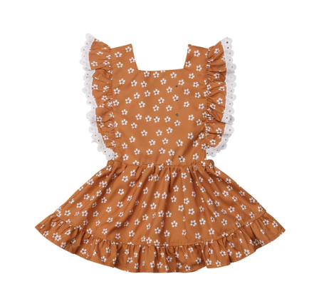 Aria Floral Rust Dress