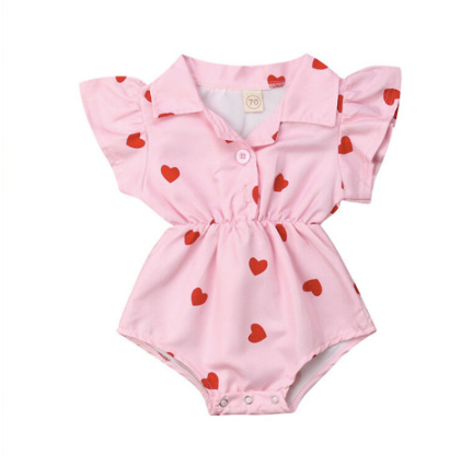 Betty Heart Pink Onesie