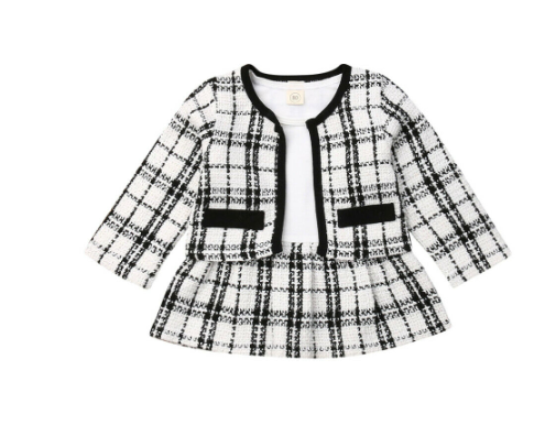 Dee Dee Plaid Jacket & Dress Set