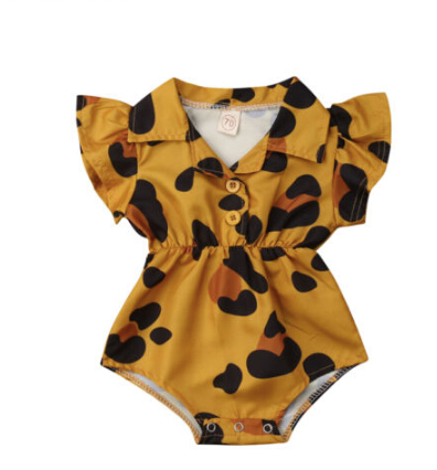 Betty Animal Mustard Onesie