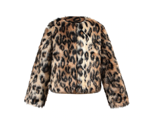 Animal Print Fur Jacket